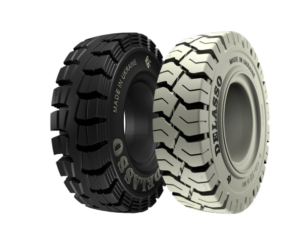 Delasso Solid tires for forklift trucks ( heavy-duty airless tire rubber )